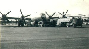 Aircraft of the 315th Bomb Wing, filling up the fuel tanks